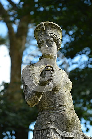 Stone statue - Portmerion Village in Wales