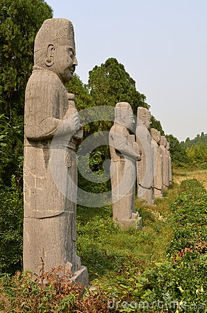 Stone Statues of Dignitaries at Song Dynasty Tombs