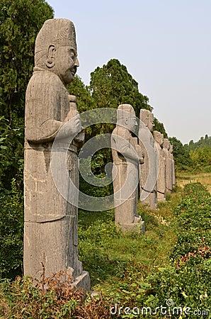 Stone Statues of Dignitaries at Song Dynasty Tombs, China