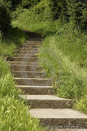 Free Stone Steps Leading Up A Hill Sand Point Beach England Uk Royalty Free Stock Photography - 205537