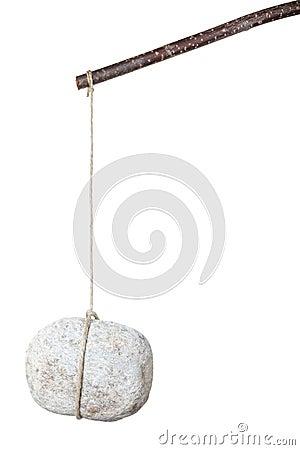 Stone on a stick