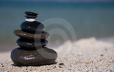 Stone on stone tower - Zen