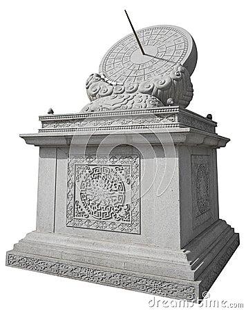 Free Stone Sundial Royalty Free Stock Photography - 54568567