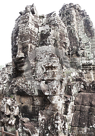 Stone  temple siem reap cambodia bayon