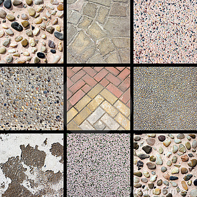 Stone texture collage