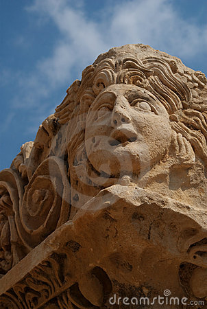 Stone Theater Mask, Myra, Turkey