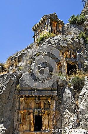 Stone tombs of myra