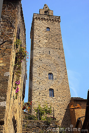 Stone Tower Medieval Town San Gimignano Italy