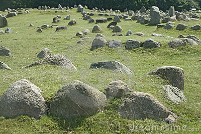 Stone viking graves