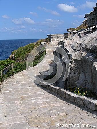 Free Stone Walkway Along Coast Royalty Free Stock Image - 286136