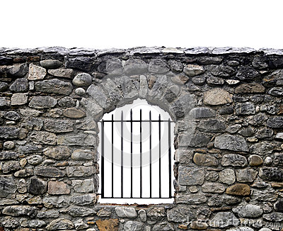 Stone wall and bars