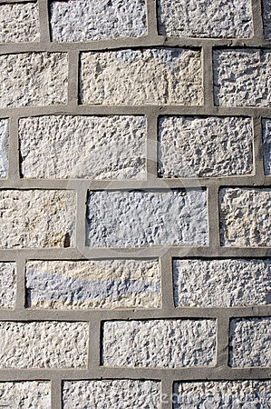 Stone wall with cement fugue