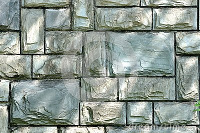 Stone wall in cyan color