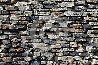 Stone wall with different stones
