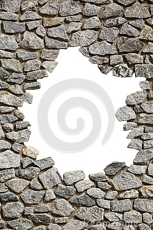 Free Stone Wall Frame With Empty Hole. PNG Available Stock Photos - 58427563