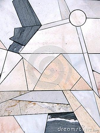 Stone wall, mosaic