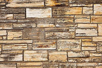 Stone wall of natural stones