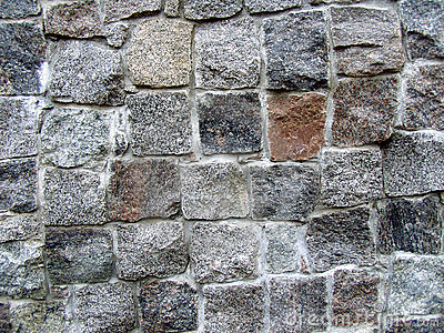 Stone wall partly