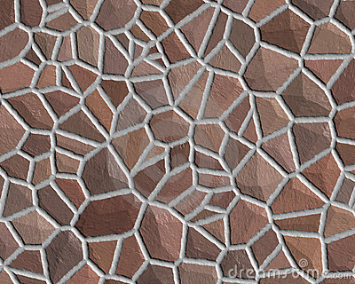 Stone wall pattern rough brown