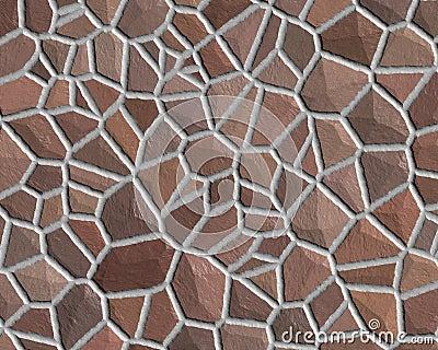 Stone wall pattern rough brown
