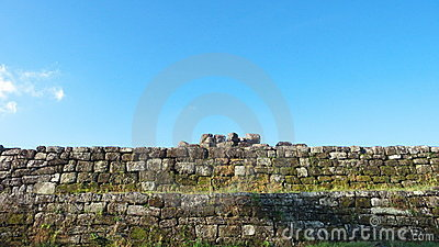 Stone wall of ratu boko palace complex