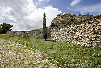 Stone Wall and Road