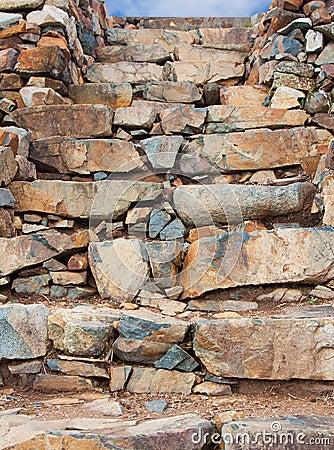 Free Stone Wall Steps Royalty Free Stock Photo - 24325165