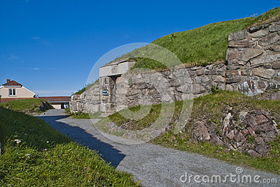 Stone walls at fortress (enveloppen 2)
