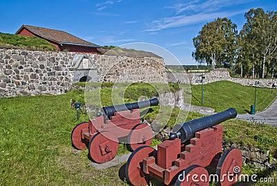 Stone walls at fredriksten fortress