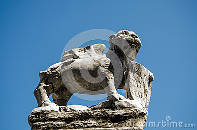 Stone, winged lion, Murano