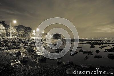 Stoned beach