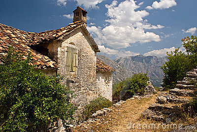 Stoned house mediterranean landscape
