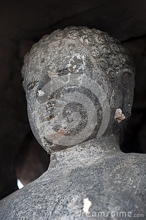 Stoned image of Buddha in  Pagoda