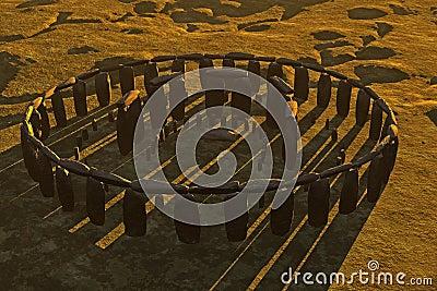 Stonehenge Casting Shadows