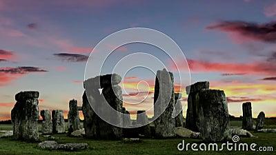 Stonehenge at dusk, video stock video