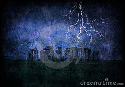 Stonehenge Lighting Storm