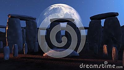 Stonehenge Moonlit