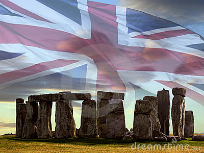Stonehenge on Salsbury Plain - England.