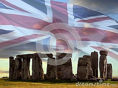 Stonehenge on Salsbury Plain - England.