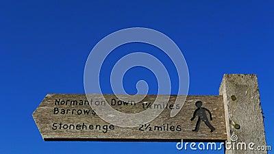 Stonehenge signpost