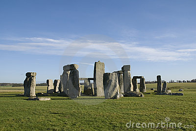 Stonehenge in Wiltshire County - England