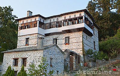 Stonemade Greek traditional tower house