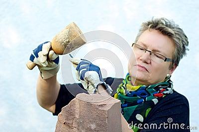 Stonemason in the garden