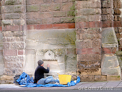 Stonemason Doing Restoration Work  Editorial Stock Photo