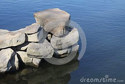 Stones on a background clean water