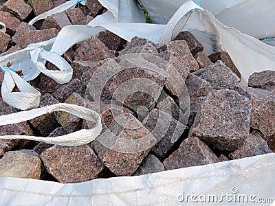 Stones in bag