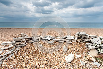 Stones on an Empty Beach