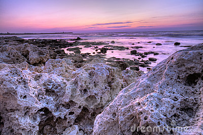 Stones and ocean
