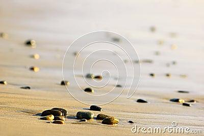 Stones on an ocean shore