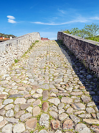 Free Stones Of Roman Bridge Royalty Free Stock Image - 31129186